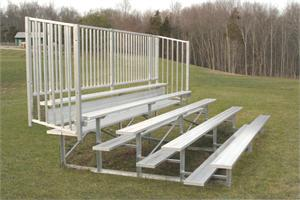 Five-Row Bleacher with Vertical Guard Rail Enclosure