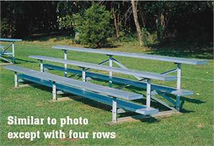 four row bleacher