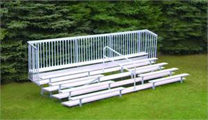 Five-Row Bleacher with Enclosure and Center Aisle