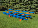three row powder coated bleacher