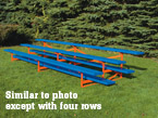 four row powder coated bleacher