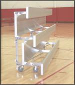 Tip and Roll Preferred Bleachers with Double Planks